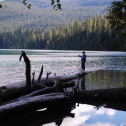 fly fishing Packwood Lake